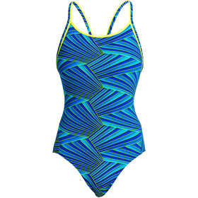 Funkita Diamond Back One Piece Badeanzug Damen streaker